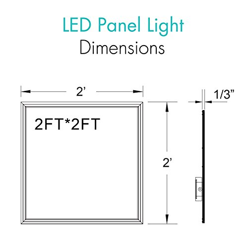 LED 2 x 2 Ft Recessed LED Panel Light Ceiling White Frame 40W 4000K Dimmable - 4Pack by New light (Image #6)