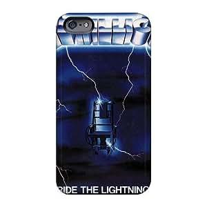 ElijahFenn Apple Iphone 6 Excellent Hard Phone Case Customized Colorful Metallica Ride The Lightning Band Pattern [nbv11397eGHI]