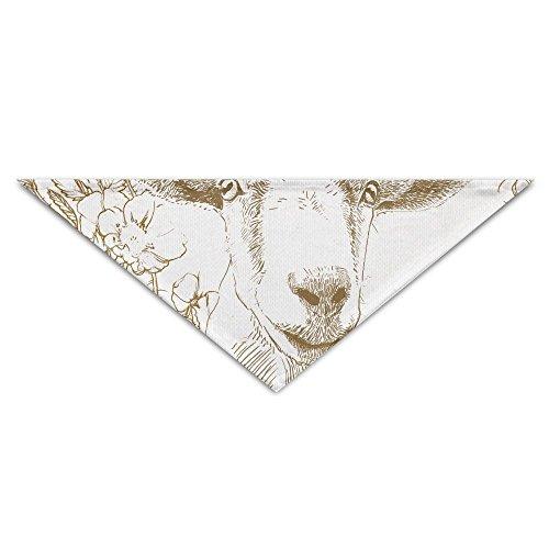 - MuaePzdl Goat Postcard Turban Triangle Scarf Bib Scarf Accessories Pet Cat And Baby Puppy Saliva Dog Towel