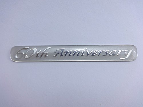 60th Anniversary Emblem Badge Car Accessories with Chrome effect and 3M adhesive