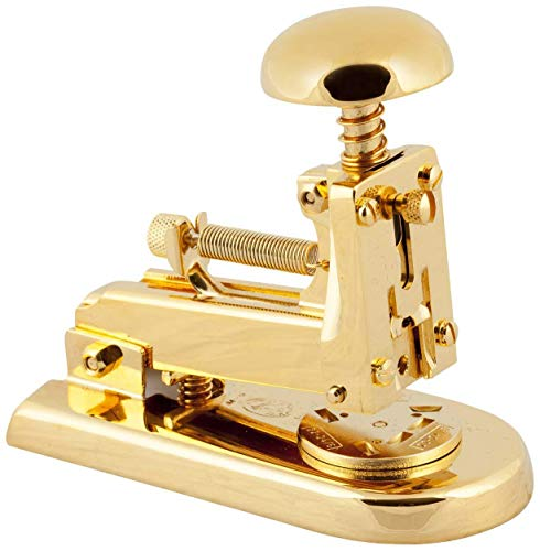 El Casco M5 Small Desk Stapler - 23 Carat Gold Plated