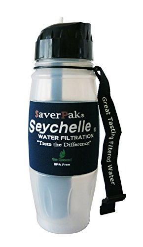 $averPak Sole - Includes 1 $averPak Seychelle 28oz Flip Top Water Bottle with the ALKALINE pH2O Enhancing Filter