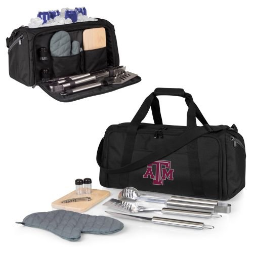 (PICNIC TIME NCAA Texas A&M Aggies BBQ Kit Cooler Tote with Barbecue &)
