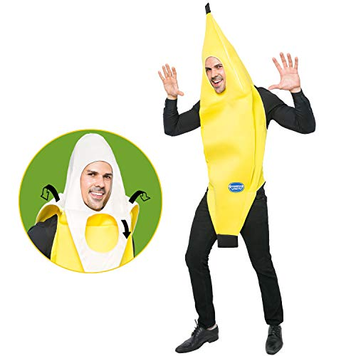Spooktacular Creations Appealing Banana Costume Adult Deluxe Set for Halloween Dress Up Party and Roleplay Cosplay