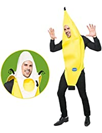 Appealing Banana Costume Adult Deluxe Set for Halloween Dress Up Party and Roleplay Cosplay