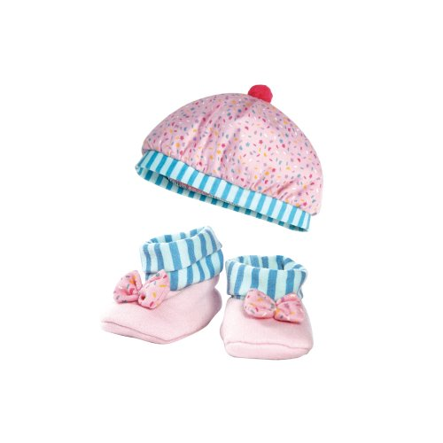 Adora Nursery Time Baby Doll Multi Color Hat and Bootie Comb