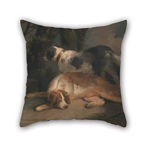 Bestseason 16 X 16 Inches / 40 By 40 Cm Oil Painting George Morland - Setters Pillow Covers,twice Sides Is Fit For Relatives,lounge,home,home Office,birthday,pub