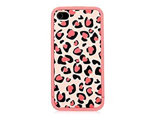 ERO Multi-function Leopard Pattern Matte Case for iPhone 4S (Pink)