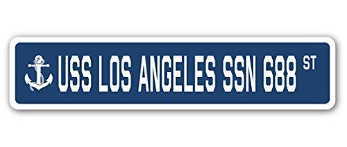 SignMission USS Los Angeles SSN 688 Aluminum Street Sign us Navy Ship Veteran Sailor Gift, 4