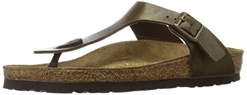 Birkenstock Women's GIzeh Thong Sandal, Golden Brown, 40 M EU/9-9.5 B(M) US (Green Metallic Footwear)