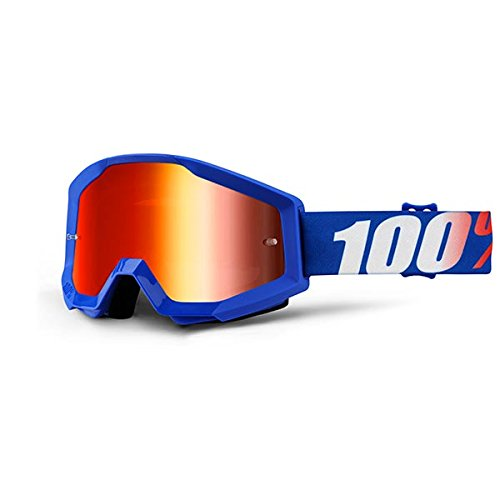 100% Unisex-Adult Speedlab (50410-236-02) STRATA Goggle Nation-Mirror Red Lens, One Size) by 100%