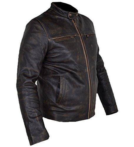 Hunger Games, Wes Bentley Bootcut Jacke Vintage Rindsleder Braun