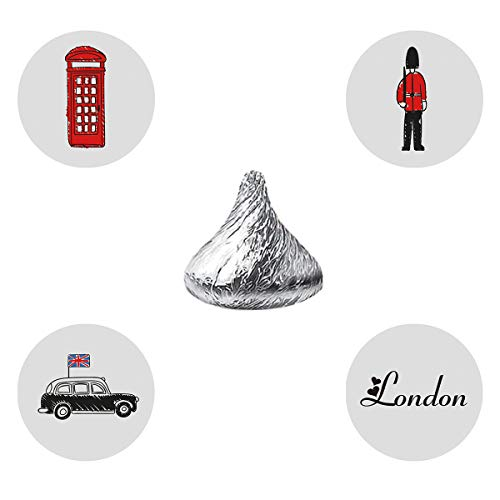 MAGJUCHE London British Candy Stickers, Kids Baby Shower Birthday or Travel Themed Party Favor Labels, Fit Hershey's Kisses, 304 Count for $<!--$10.99-->