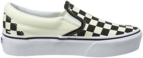 White Black Vans Trainers Checkerboard Classic Women��s Slip Slip Platform On on ZzZUnpq