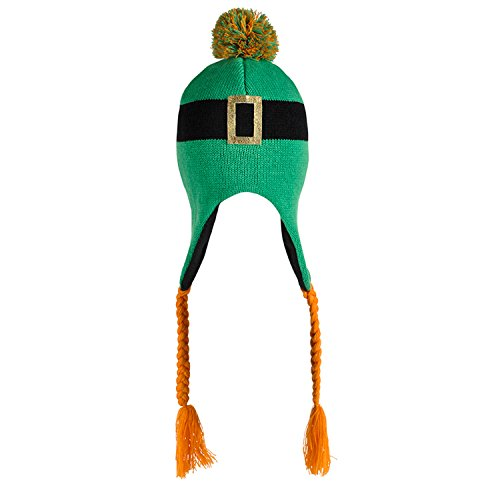 Patricks Day Knit Cap (Rhode Island Novelty Saint Patricks Day Irish Leprechaun Tassel Knit Hat)