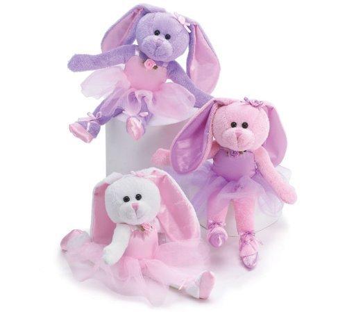 (Set of 3 Ballerina Plush Bunnies 10.5