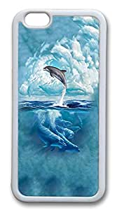 iPhone 6 Plus Cases, Dolphin Sky Cloud Durable Case Cover for Apple iPhone 6 Plus 5.5INCH Screen TPU White