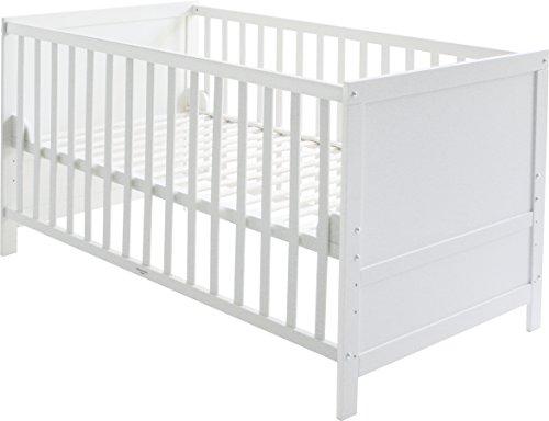 roba-kids 0191W - Cuna de 140 x 70 cm transformable en cama infantil