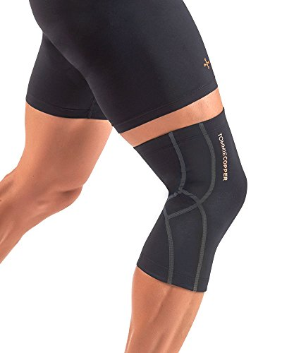 (Tommie Copper Unisex Performance Compression Knee Sleeve, Black with Tonal Stitch, XX-Large)