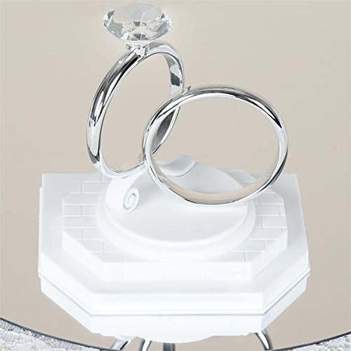 Efavormart Double Ring Wedding Cake Topper