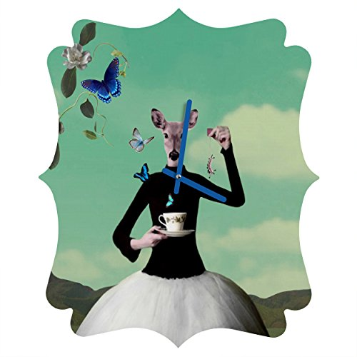 Deny Designs Natt, Butterfly Tea, Quatrefoil Clock, Medium by Deny Designs