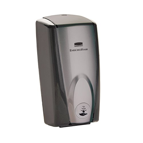 Rubbermaid Commercial FG750139 Wall Mount Auto Foam Dispenser, Black and Gray Pearl
