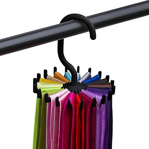HyStore25 2019 Rotating Tie Rack Adjustable Tie Hanger Holds 20 Neck Ties Tie Organizer for Men 1.28