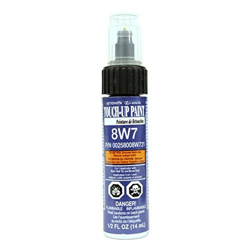 Genuine Toyota 00258-008W7-21 Blue Crush Metallic Touch-Up Paint Pen (.44 fl oz, 13 ml) (Dark Blue Car Touch Up Paint)