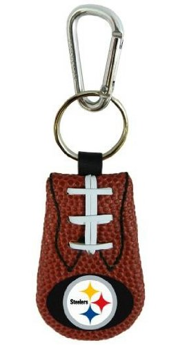 - Pittsburgh Steelers Leather NFL Football Classic Keychain