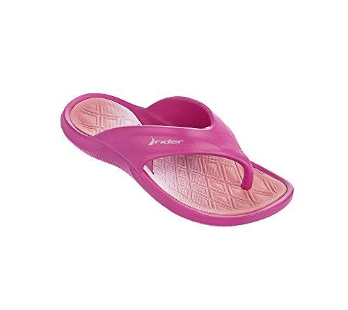 Rider Girl's Cape VIII Thong Sandals Pink 3 Little Kids Bon Bon 3 Sandal