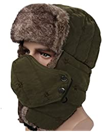 Winter Trapper Trooper Hat Windproof Warm Camouflage Mask Ear Flaps Outdoor Sports Walking Skiing Hunting Hat