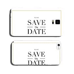 Save the date wedding card with on big flower. Vector design. cell phone cover case Samsung S5