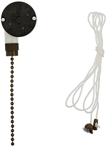 Westinghouse Lighting 3 Speed Fan Switch with Antique Brass Pull Chain ()