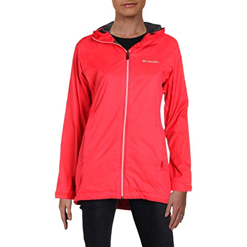 Womens Hooded Peacoat - Columbia Women's Switchback Lined Long Jacket, red Camellia, L