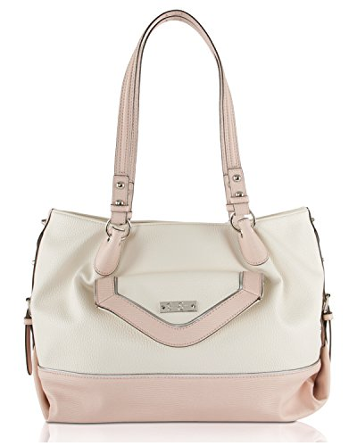 Simpson 6 Inch Trim (Jessica Simpson Britney Tote Shoulder Bag - Cream/Pink/Silver)