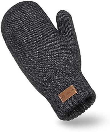 Handschuhe, M/ütze, Loop-Schal PaMaMi Herren Winter-Set 3-teilig Atmungsaktive M/ütze und w/ärmender Loop-Schal in Strickoptik in 5 Farben   100/% Acryl Handschuhe mit Touchscreen-Funktion