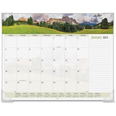 (Visual Organizers Panoramic Landscape Monthly Desk Pad Calendar, 22 x 17 (VIO89802) Category: Desk Calendar Pads and Refills by At-A-Glance)