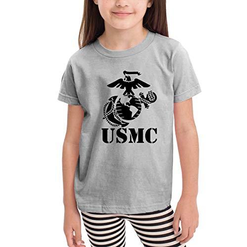 Eagle Globe Anchor USMC Marine Corps Toddler Girls Short Sleeve Crew Neck Tee Shirt