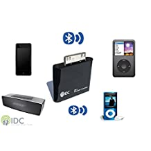 IDC© i-BLU Bluetooth iPod Transmitter - Turn Your iPod Bluetooth To Stream Your Music Wirelessly to your Speaker or Headphones. Works on all non Bluetooth iPods Including iPod Classic, iPod Nano, iPod Touch, Ipod Shuffle, Ipod Mini, Ipod Video.
