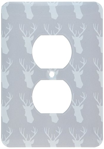 3d Rose 3dRose lsp_179694_6 White Deer Head Pattern on Gr...
