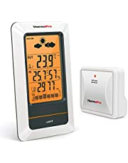 ThermoPro TP67 Wireless Remote Digital Weather Station Indoor Outdoor Thermometer Indoor Hygrometer with Weather Forecaster Barometer, 200 Feet Range, Large LCD Backlit Display