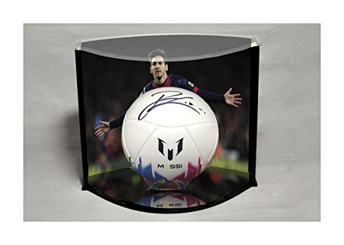 Lionel Messi Signed Soccer Ball Custom Framed with COA by Vintage Favs
