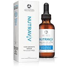 NutraViv Hair Growth Serum for Thinning Hair for Women and Men - natural DHT Blockers, Azelaic Acid, Green Tea, B Vitamins - Minoxidil FREE - Guaranteed Results - for All Hair Types - 4-6 Week Supply