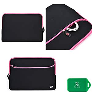 Toshiba PORTEGE R705-SP3001L Universal sleeve/light weight/durable with front pocket and internal card slot in black/pink