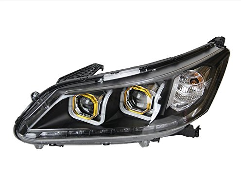 GOWE Car Styling Head Lamp for Honda Accord Headlight 2013 New Accord LED Headlight DRL H7 D2H Hid Option Angel Eye Bi Xenon Color Temperature:6000K Wattage:35W 1