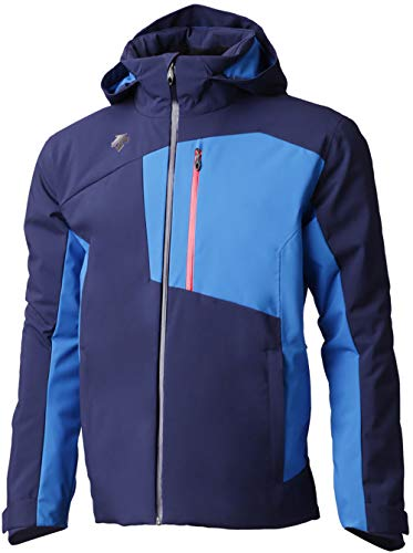Descente Rage Insulated Ski Jacket Dark Night/Airway Blue/Electric Red Mens Sz L (Descente Ski Jacket)