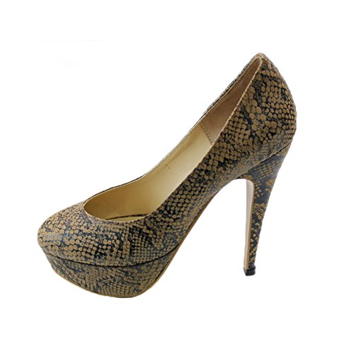 W amp; Marron Haut Femmes de Tribunaux Soir Soirée W Chaussures Taille Santal Reeba Mariage Reeba Mesdames Talon FSqdAFrw