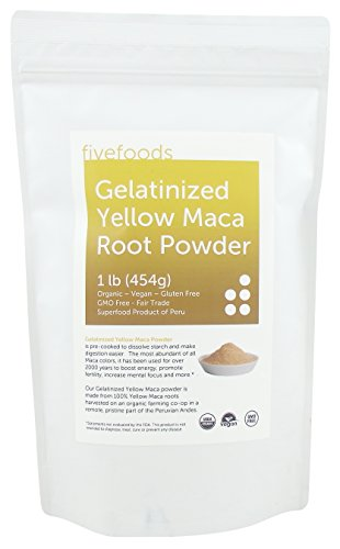 Gelatinized Maca Powder – Pre-cooked, Organic, Fair Trade, GMO Free, Grown Traditionally in Peru – Pure and Potent - 1 Lb (454 G) 50 Servings