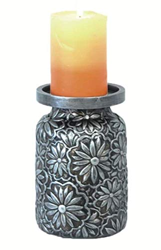 Cowgirl Kim Faux Metal Embossed Pillar Candle Holder ()