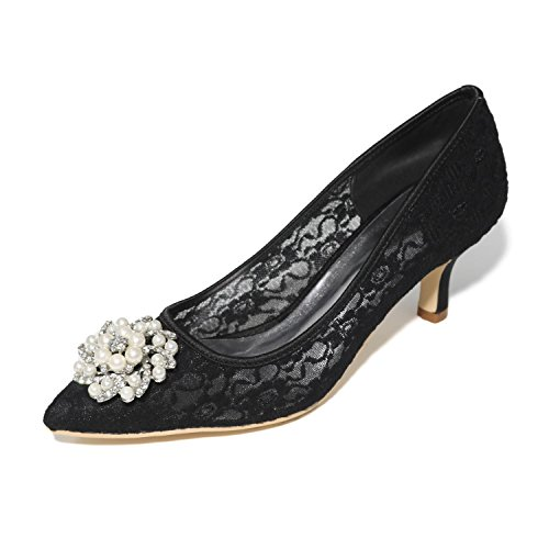 L@YC Women's Spring Summer High Heels Fall Lace Wedding Party & Evening Stiletto Heel Black Pink Red White Black